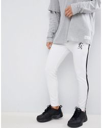 Gym King - Skinny Logo jogger In White - Lyst