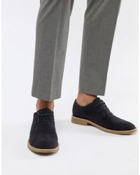 New Look - Faux Suede Desert Shoes In Navy - Lyst