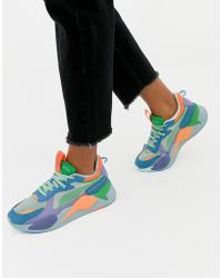 PUMA - Rs-x Toys Green And Blue Sneakers - Lyst