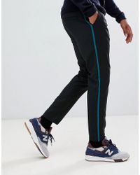 Lindbergh - Relaxed Fit Trousers In Black With Side Stripe - Lyst
