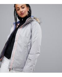 Roxy - Jet Ski Solid Ski Jacket In Grey - Lyst