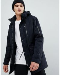 Only & Sons - Padded Parka With Multi Pockets - Lyst