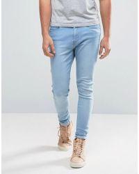 WÅVEN - Super Skinny Spray On Jeans In Ice Blue - Lyst