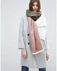ASOS - Supersoft Long Woven Scarf In Colour Block - Lyst
