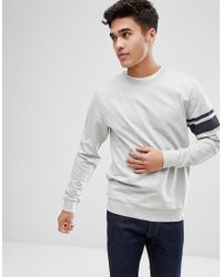 Only & Sons - Sweatshirt With Arm Stripe - Lyst