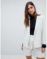 Y.A.S - Striped Blazer Co-ord - Lyst