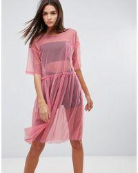 Uncivilised - Mesh Tutu Midi Dress - Lyst