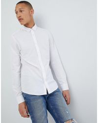 Only & Sons - Slim Fit Pique Shirt - Lyst