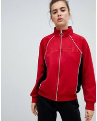 Volcom - Track Jacket In Red - Lyst