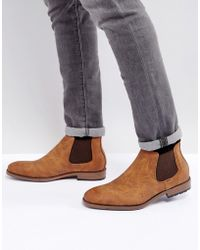 New Look - Chelsea Boot In Tan - Lyst