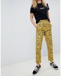 Daisy Street - Straight Leg Trousers In Animal Print - Lyst