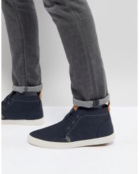 Call It Spring - Thaywien Hi Top Trainers In Navy - Lyst
