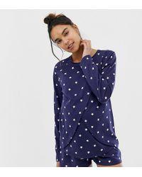 ASOS - Pyjamaset Met Voedingsoverslag En Short - Lyst