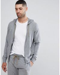 Paul Smith - Lounge Jersey Hoodie In Grey Marl - Lyst