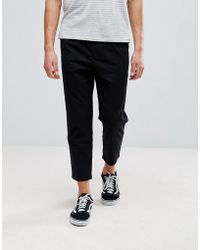 Pull&Bear - Relaxed Chino In Black - Lyst