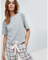 ASOS - Design Mix & Match Gray Marl Pajama Tee - Lyst