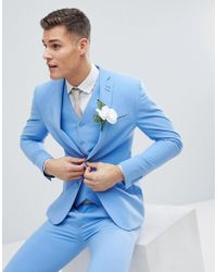 ASOS - Super Skinny Suit Jacket In Provence Blue - Lyst