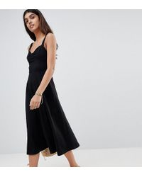 cb70351b7f0 Asos Plait T Back Detail Maxi Beach Dress with Padded Cups in Black ...