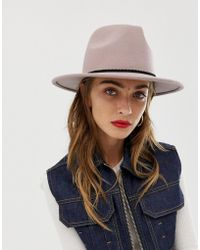 c442a47f24b ASOS Asos Skinny Band Felt Floppy Hat With Size Adjuster in Black - Lyst