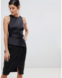 Coast - Rosalind Belted Pencil Dress - Lyst