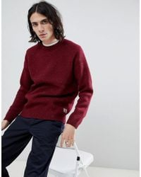 Carhartt WIP - Anglistic Knitted Jumper In Red - Lyst
