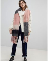 ONLY - Heavy Check Fringe Scarf - Lyst