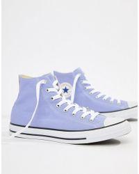 Converse - Chuck Taylor All Star Hi Plimsolls In Purple 160455c - Lyst