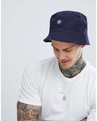 Pretty Green - Tonal Paisley Reversible Bucket Hat In Navy - Lyst