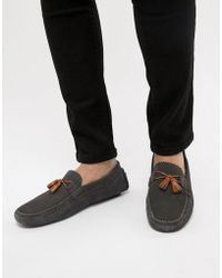 Ted Baker - Urbonns Suede Drivers In Grey - Lyst