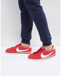 Nike - Classic Cortez Se Trainers In Red 902801-600 - Lyst