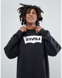 Levi's - Levi's Line 8 Reverse Batwing Sweatshirt Black - Lyst