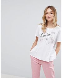 PS by Paul Smith - Ps By Paul Smith London Peplum T-shirt - Lyst