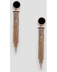 Ashiana - Drop Earrings With Black Stud Detail - Lyst