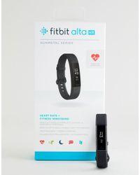 Fitbit - Alta Hr Activity Tracker In Gunmetal - Lyst