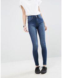 Cheap Monday - Spray On High Waist Organic Cotton Skinny Jeans - Lyst