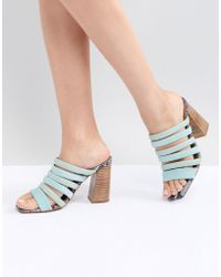 ASOS - Aster Leather Heeled Sandals - Lyst