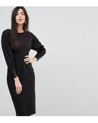 ASOS - Long Sleeve Midi Pencil Dress - Lyst