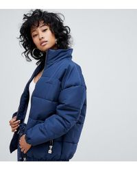 Ellesse - Padded Jacket With Embroidered Chest Logo - Lyst
