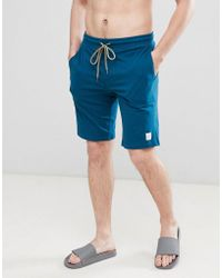 Paul Smith - Lounge Jersey Shorts In Teal - Lyst