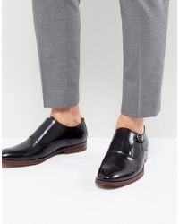 ALDO - Catallo Leather Monk Shoes In Black - Lyst