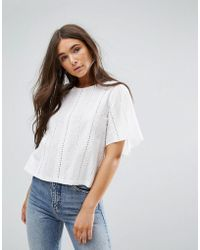 Traffic People | Lazer Cut Out Top | Lyst