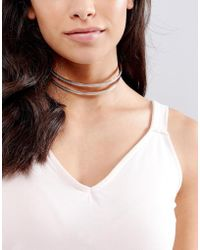 New Look - Glitter Choker - Lyst