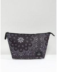 ASOS - Toiletry Bag In Black Bandana Print - Lyst