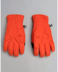 Quiksilver - Cross Ski Gloves In Mandarin Red - Lyst