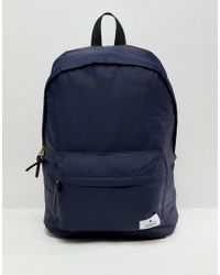 ASOS - Backpack In Navy With Badge Detail - Lyst