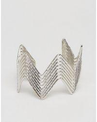 Ashiana - Zig Zag Chunky Cuff Bracelet - Lyst