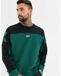 adidas Originals Vocal Sweatshirt With Logo Back Print In Green