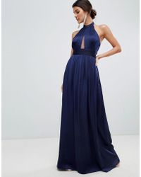 Little Mistress - Keyhole Maxi Dress - Lyst