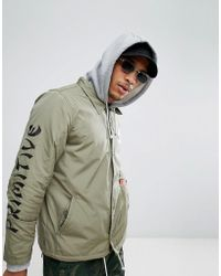 Primitive - Skateboarding Coach Jacket With Fleece Hoodie Lining - Lyst