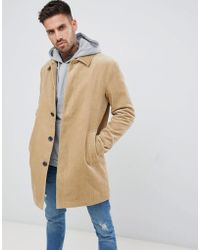 ASOS - Single Breasted Cord Trench Coat In Stone - Lyst